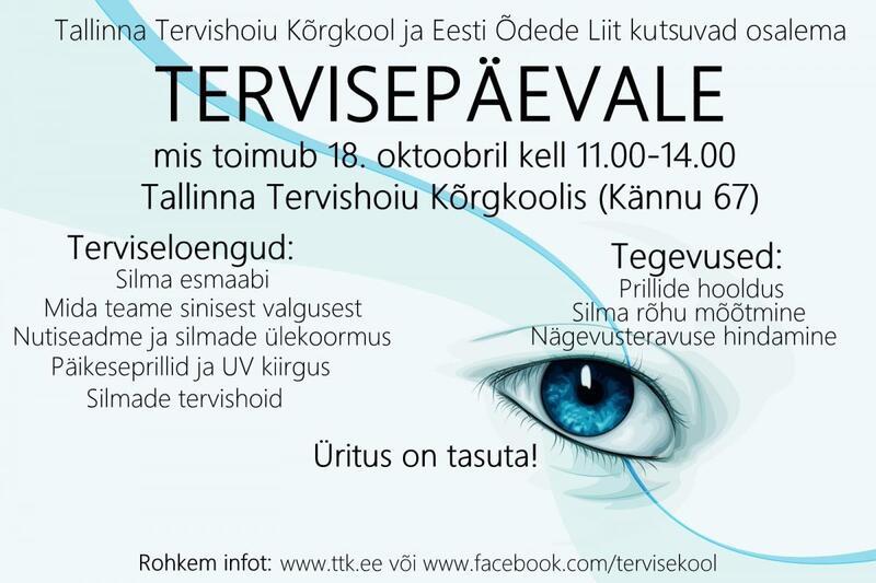 d7004d95267 12.00-12.30 Kuiva silma sündroomi leevendavad silmatilgad – Margaret-Erika  Triik, Maris Käsi, farmaatsia eriala 3. kursuse üliõpilased 12.30-13.00  Silmade ...